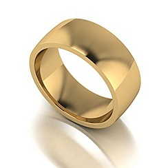 Love Story - 9ct gold 8mm med court wedding ring