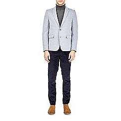 Burton - Light blue textured jersey blazer