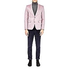 Burton - Pink textured jersey blazer