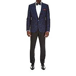 Burton - Cobalt floral stretch blazer