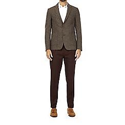 Burton - Brown wool blend textured blazer