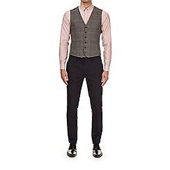 Burton - Grey check wool blend waistcoat