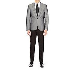 Burton - Silver diamond jacquard blazer