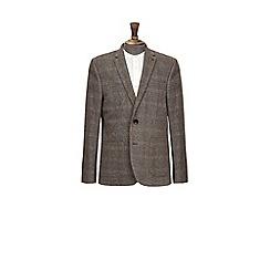 Burton - Mid grey wool blend checked blazer