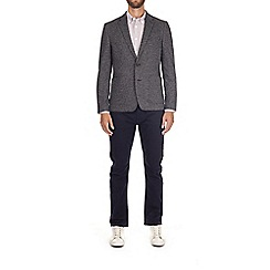 Burton - Charcoal textured jersey blazer