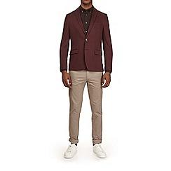 Burton - Burgundy pique jersey blazer