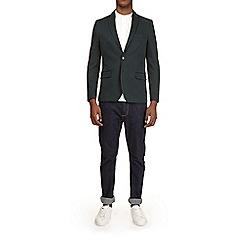 Burton - Dark green jersey blazer