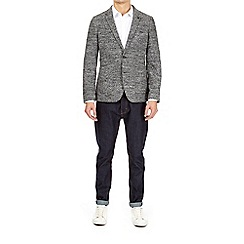 Burton - Grey wool blend boucle blazer