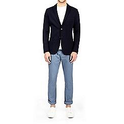 Burton - Navy unstructured jersey blazer