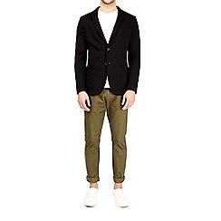 Burton - Black unstructured jersey blazer