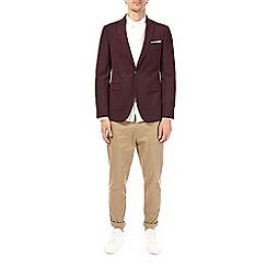 Burton - Purple pindot stretch blazer