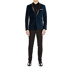 Burton - Teal velvet blazer
