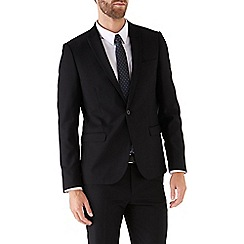 Burton - Black skinny fit suit jacket