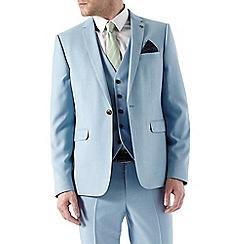 Burton - Skinny Fit Light Blue Textured Suit