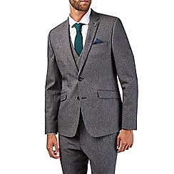 Burton - Skinny fit charcoal textured suit jacket