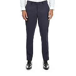 Burton - Blue skinny fit puppytooth suit trousers