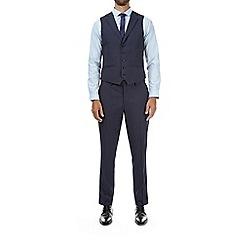 Burton - Blue skinny fit puppytooth waistcoat