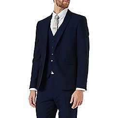 Burton - Skinny fit midnight navy suit jacket