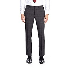 Burton - Dark grey skinny fit check suit trousers