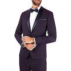 Burton - Purple skinny fit jacquard tuxedo jacket
