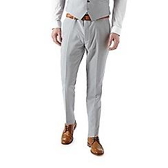 Burton - Skinny fit light grey plain suit trousers