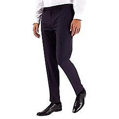 Burton - Purple skinny fit jacquard tuxedo trousers