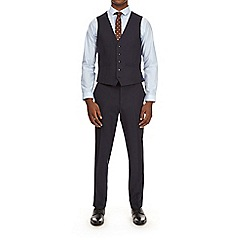 Burton - Navy pinstriped skinny fit suit waistcoat