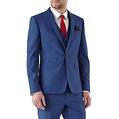 Burton - Skinny fit blue plain suit jacket