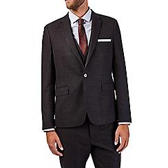 Burton - Black skinny fit slub suit jacket