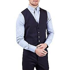 Burton - Skinny fit purple jacquard waistcoat