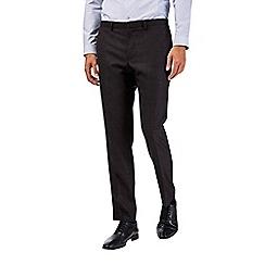 Burton - Black skinny fit slub suit trousers