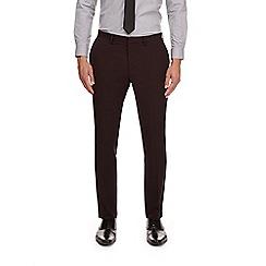 Burton - Burgundy skinny fit suit trousers