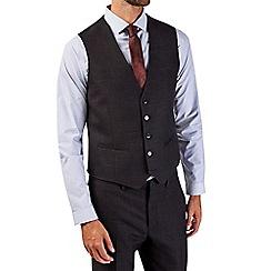 Burton - Black skinny fit slub waistcoat