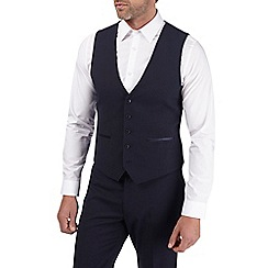 Burton - Navy dobby skinny fit waistcoat