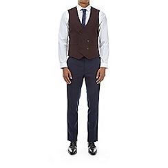 Burton - Burgundy skinny fit waistcoat