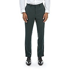 Burton - Dark green slim fit tuxedo suit trousers