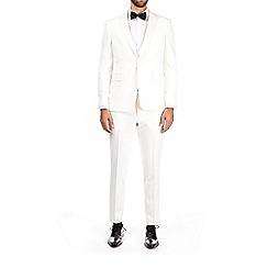 Burton - Ecru Montague Burton skinny fit tuxedo jacket