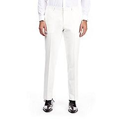 Burton - Ecru Montague Burton skinny fit tuxedo trousers