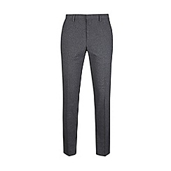 Burton - Dark grey textured skinny fit suit trousers