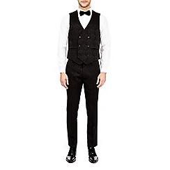 Burton - Black floral skinny fit waistcoat