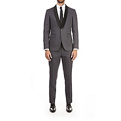 Burton - Grey jacquard skinny fit suit jacket