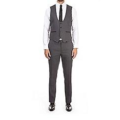 Burton - Grey jacquard skinny fit waistcoat