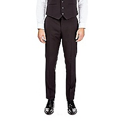 Burton - Black skinny fit textured tuxedo suit trousers