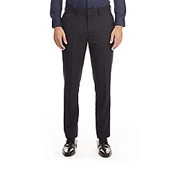 Burton - Navy camouflage skinny fit tuxedo trousers