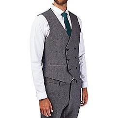 Burton - Charcoal skinny fit textured waistcoat