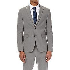 Burton - Light grey essential skinny fit suit jacket with stretch