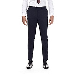 Burton - Navy muscle fit textured suit trousers
