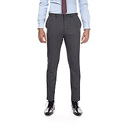 Burton - Charcoal muscle fit textured trousers