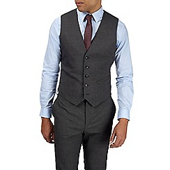 Burton - Charcoal muscle fit textured waistcoat