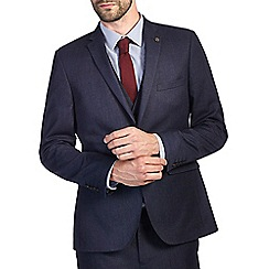 Burton - Slim Fit Navy Flannel Suit